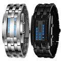 Durable de Moda reloj de los hombres relogio masculino hombres de Lujo Fecha de Acero Inoxidable LED Digital Pulsera Relojes Deportivos