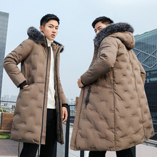New Fashion -40Celsius Winter Coat Men Warm Down Male Hooded Long Thickening White Duck Down Jacket Outwear Casual Solid Parkas