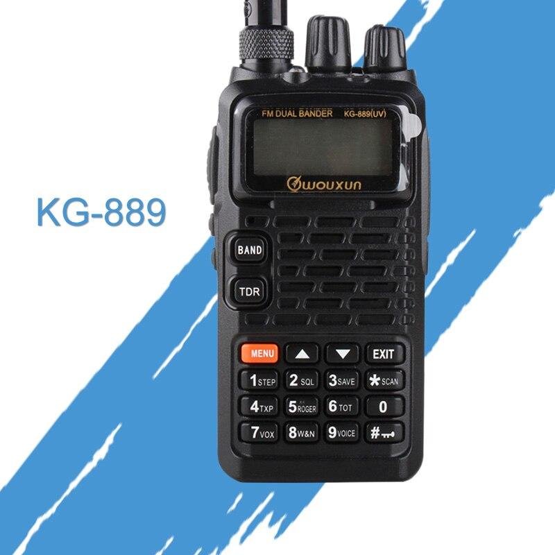 Général talkies-walkies pour Wouxun KG-889 VHF/UHF étanche Dual-Band Ham two way Radio portable CB radio De Poche Récepteurs