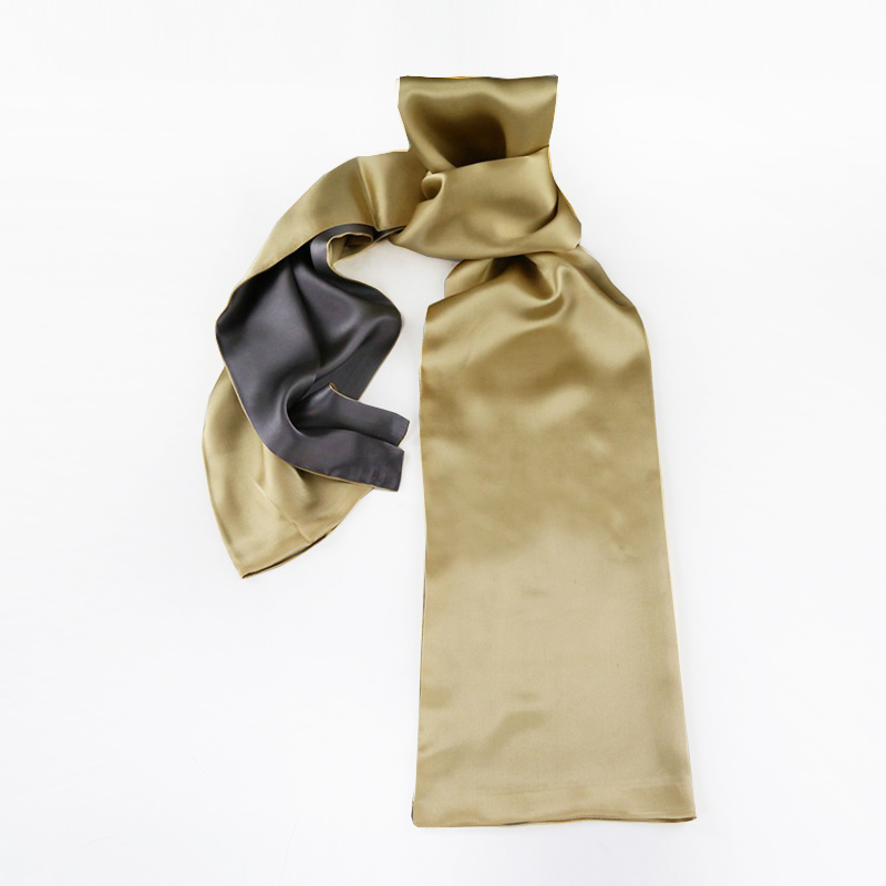 Buy now Luxury Mens Silk Scarf 2018 Spring Autumn Double Side