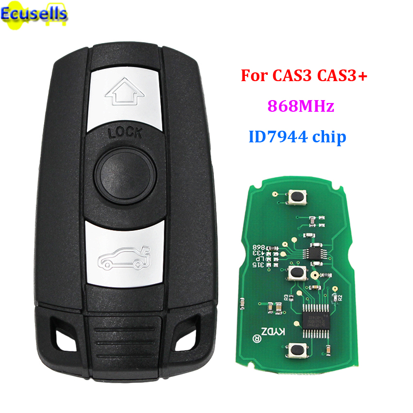 3 Buttons 315MHz Fob Remote Key Entry w//PCF7952 Chip For Mini Cooper 2007-2014