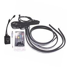 цена на 90/120cm Car RGB Underglow LED Strip Atmosphere Lamp 5050 SMD DC12V 6000K