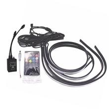 90/120cm Car RGB Underglow LED Strip Atmosphere Lamp 5050 SMD DC12V 6000K цена