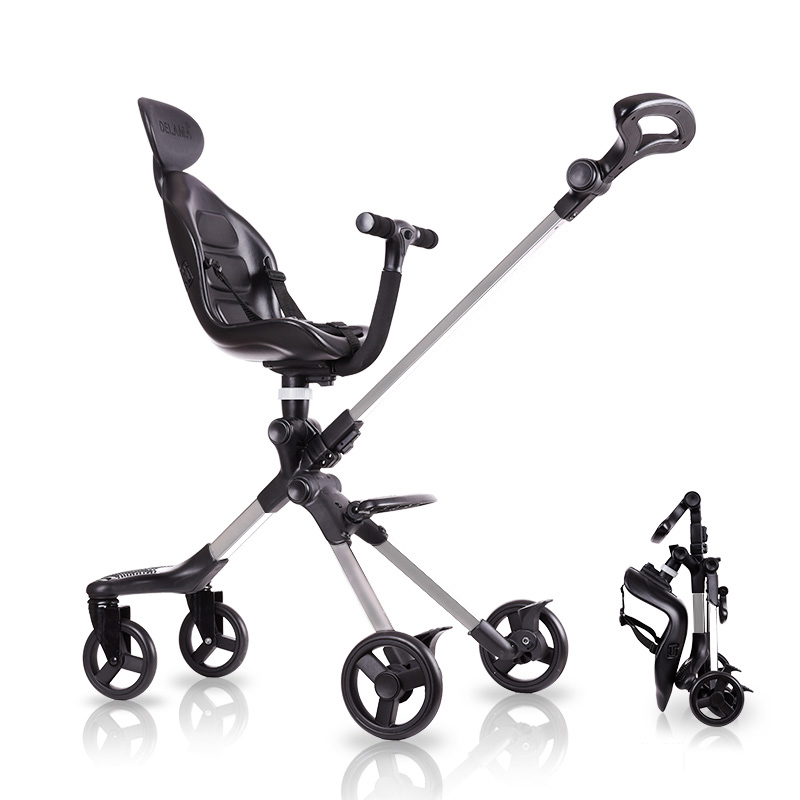 Dsland Doux bebe INBB finfin stok scooter baby stroller 2 side high luxury umbrella pram Trike super stable easy shopping tool 53000459