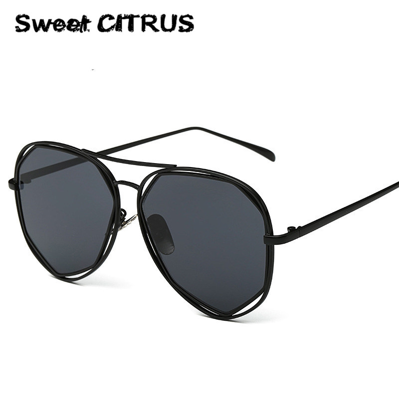 2016 New Brand Designer Mirror Sunglasses Men Women Hexagon Super Stylish UV400 Lovers Pilot Sun Glasses