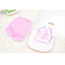 1pcs 19.5 * 14cm Plastic Bath Shower Scrubber Massage Body back Glove Tool Product For Men Women