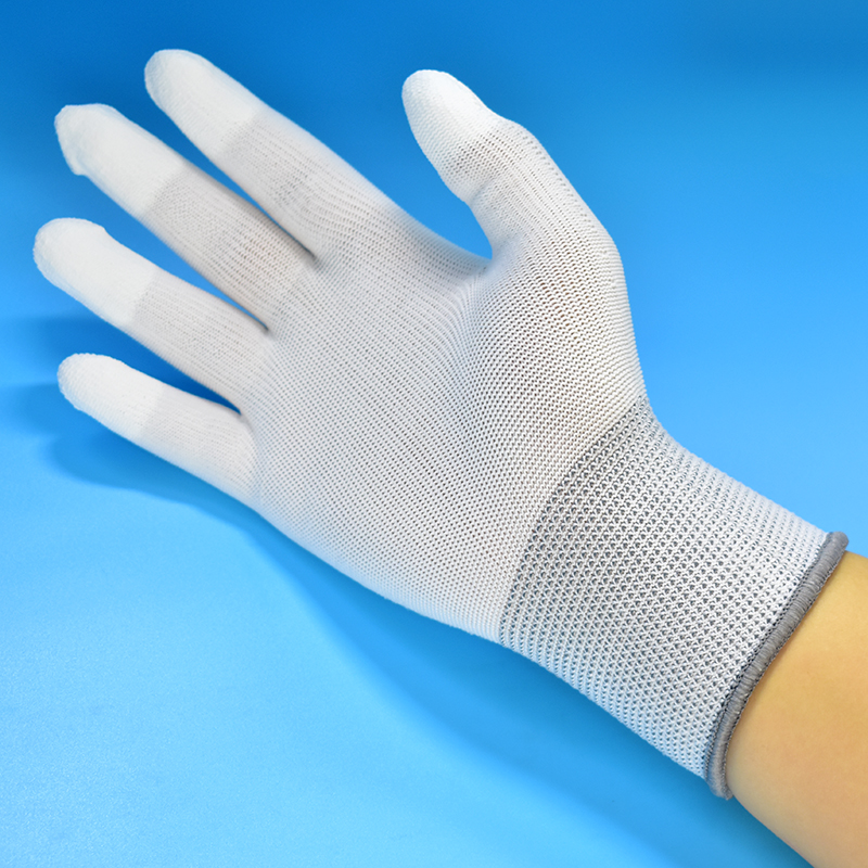 10pair Antistatic Gloves Anti Static ESD Electronic Working Gloves pu coated palm coated finger PC Antiskid Finger Protection 500 grams about 750pcs milky latex rubber powder free working protective finger sets anti cutting cleanroom esd work gloves
