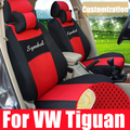 Front & rear seat covers custom fit for vw tiguan 2012/2013 car seat cushion interior accessories mesh car cover for car seats