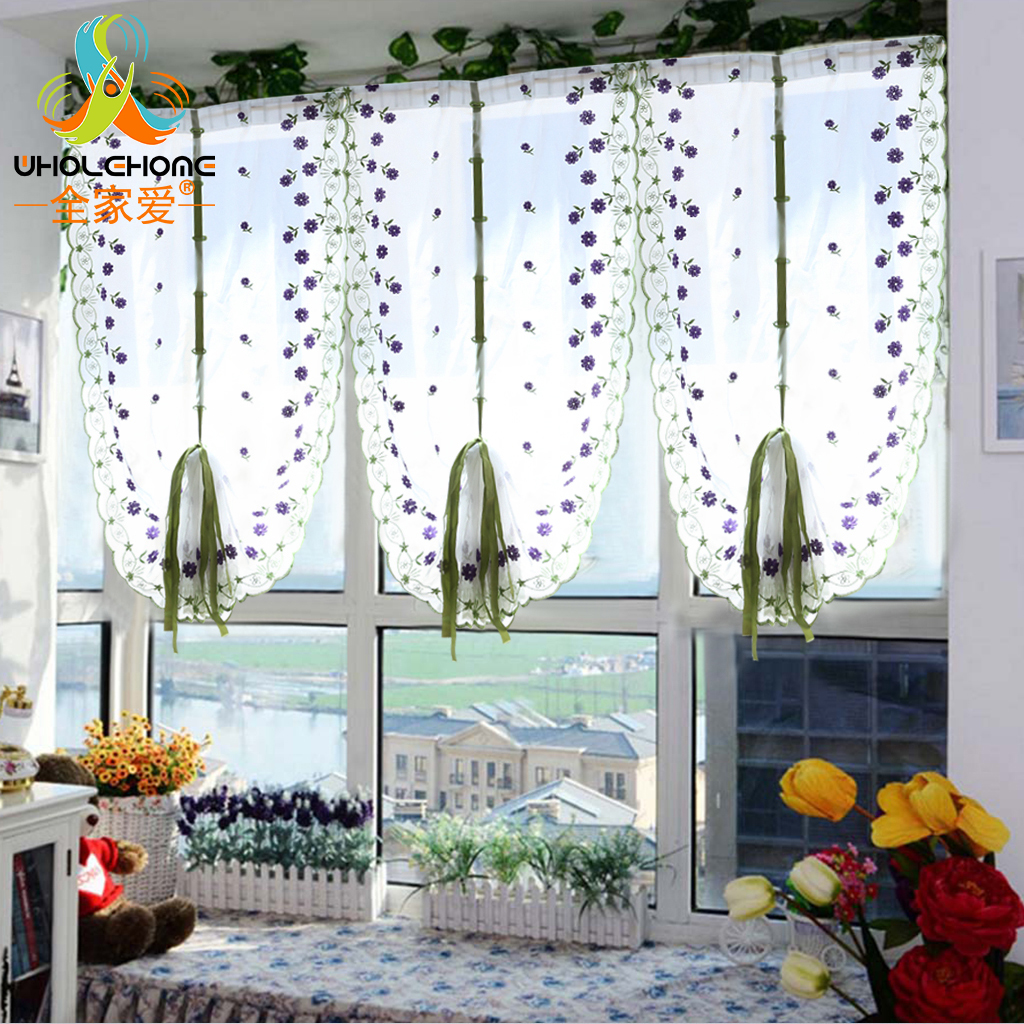 Decoration Rideaux Pour Salon us $5.29 |tulle voile roman curtains embroidery flower window curtain  living room decoration rideaux pour le salon decor 1 pcs only|rideaux pour  le