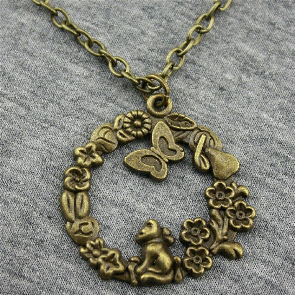 WYSIWYG 34x33 мм обезьяна и бабочка жизни в удивительный мир кулон Цепочки и ожерелья, Модные украшения подарок для Для женщин