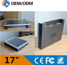 17 inch industrial touch screen pc resistive touch Resolution 1280×1024 with intel C1037Udesktop/wall hanging/embedded