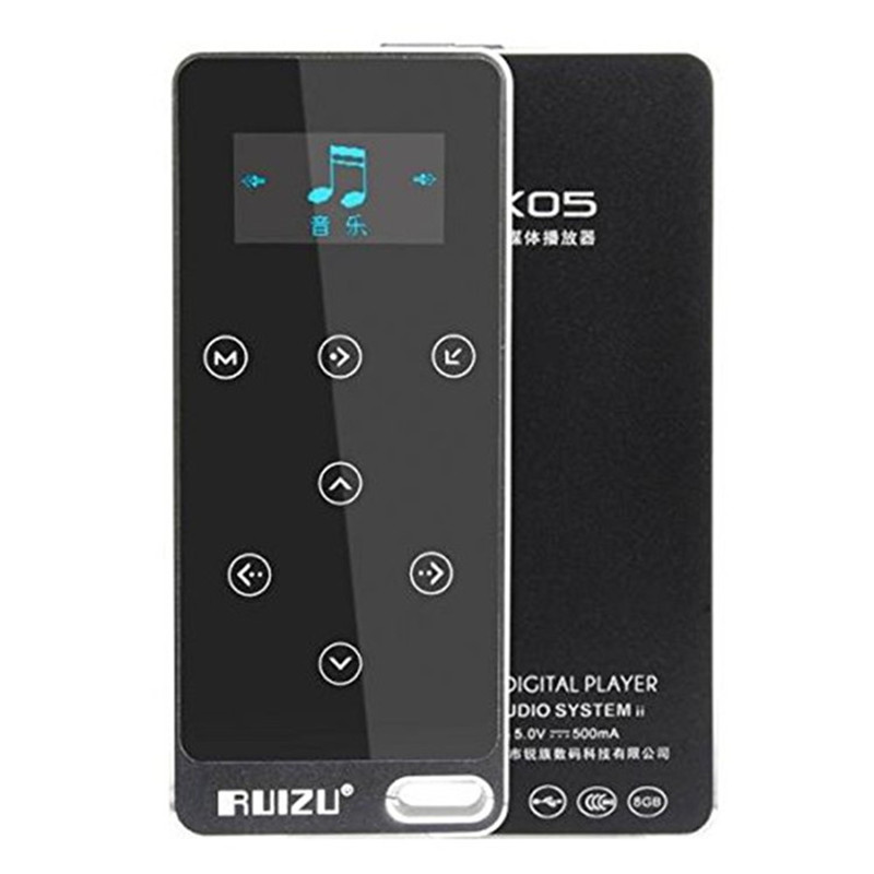 Ruizu X05 8G Metal HIFI Mp3 Music Player Lossless Sound 100h Play Fever Walkman Touch Screen Sport Record MP3 with E-book FM hercules расческа женская разделительная