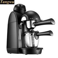 Espresso maker GEBRUIKT een commerciële semi-automatische gebrouwen koffie pot