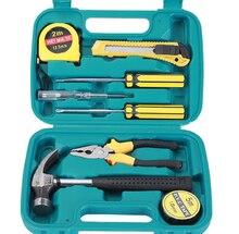 9pcs/set Auto Repair Tool Kit screwdriver nail hammer Toolbox Combination Suit Hardware Car Repair Tools