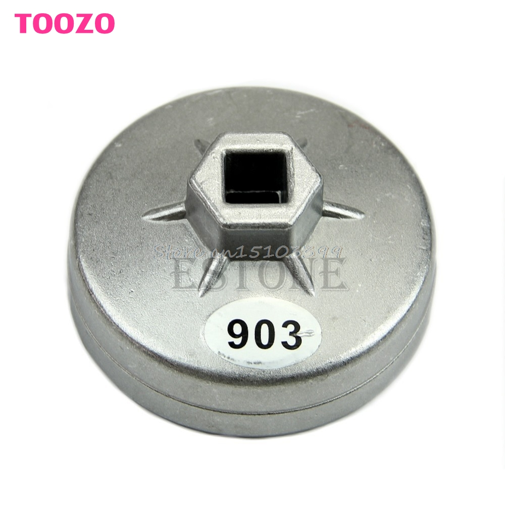 Aluminum Oil Filter Wrench Socket Remover Tool 74mm 14 Flute For BMW AUDI Benz Drop Ship