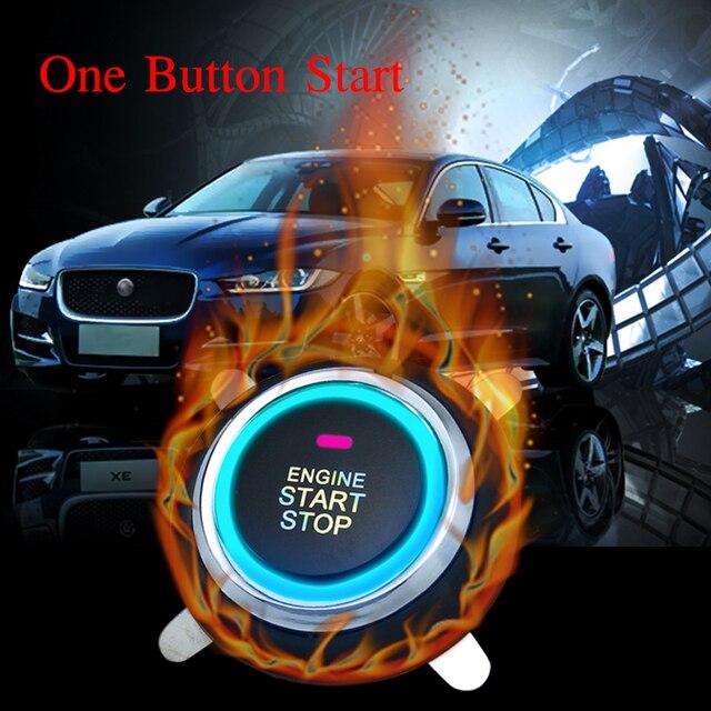 12V Auto Car Alarm One Start Stop Button Engine Push Button RFID Lock Ignition Switch Keyless Entry Starter Antitheft System 2