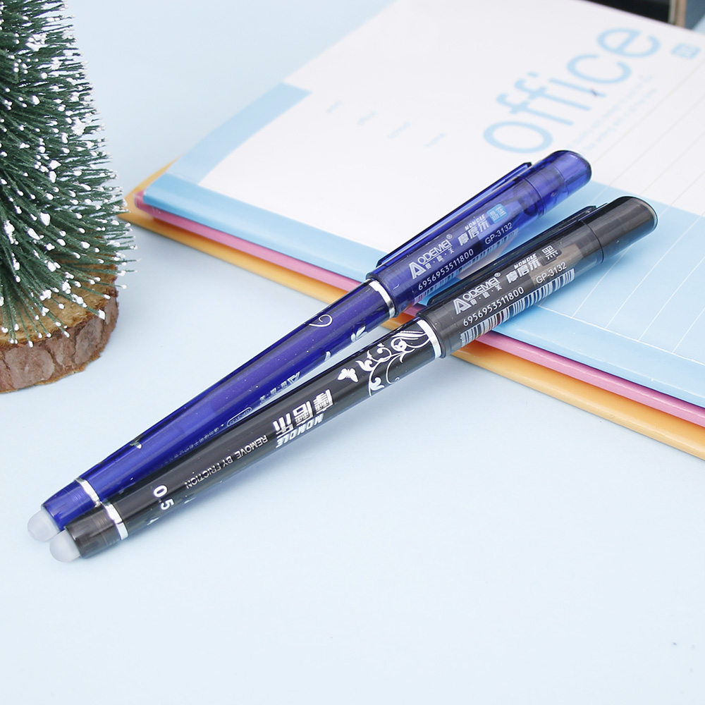1PCS Erasable Gel Pen 0 5mm Nib Blue Black Refills Optional Student School Office Stationery High grade Brand Gift Pen in Gel Pens from Office School Supplies
