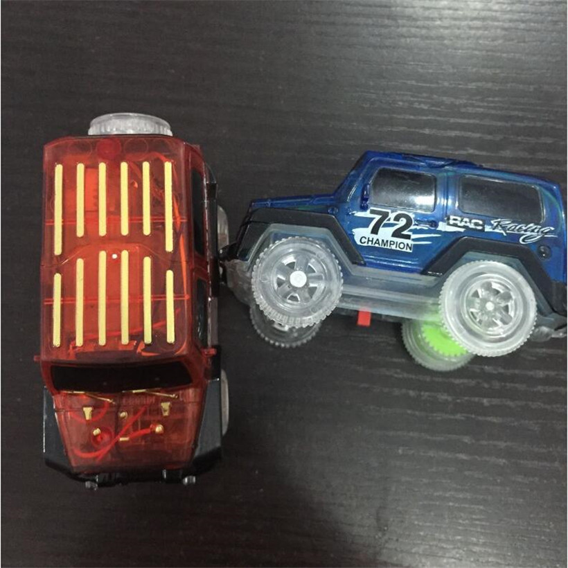 Luminous Track Toy Car Set Glowing Race Track Bend LED Flash Car Toy Kids Toys