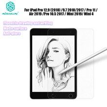 Nillkin gibi yazma kağıt ekran koruyucu için iPad Pro 12.9 2020 / 9.7 / Pro 11/hava 4 / Pro 10.5 2017 / Mini 2019 / 4