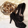 SD16 размер gr sd элегантный diamondmax туфли на высоком каблуке три-цвет