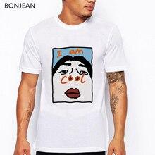 I am Cool T Shirt men Harajuku Tee shirt homme Funny graphic Print T-shirt white Streetwear tshirt Casual Tops