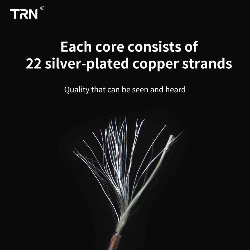 TRN T2 16 rdzeń posrebrzana HIFI kabel do aktualizacji 3.5/2.5mm wtyczka MMCX/2Pin złącze dla TRN V80 V30 AS10 IM2 BT20S C16 C10 V90 V10 S2 T2 powietrza król BQ3 T3 P1