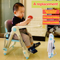 Folding Feeding Chair for Baby Dining Lunch Seat Children Table Portable Safety Belt Kids Infant Booster Seats Cushion Pad Mat