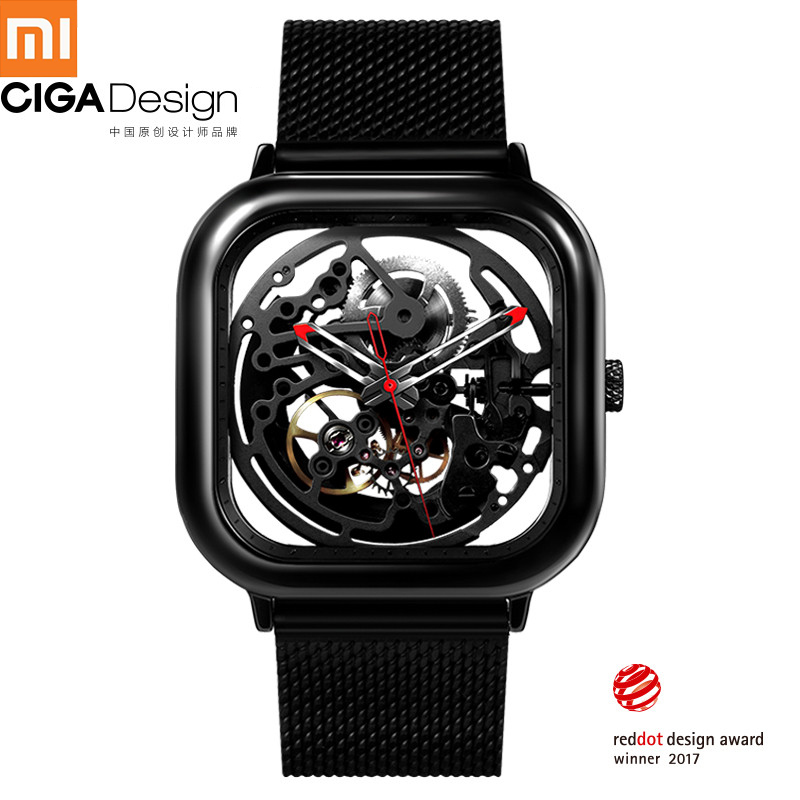 Xiaomi Mijia CIGA Watch Hollowed out Mechanical Wristwatches Watch Reddot Winner Stainless Fashion Luxury Automatic Watches