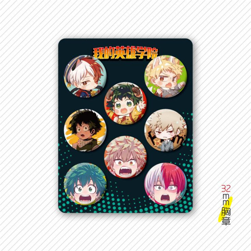 Anime Badge One Piece Naruto My Hero Academia Cosplay Badge Sword Art Online Tokyo Ghoul Metal Badge Suit Brooch