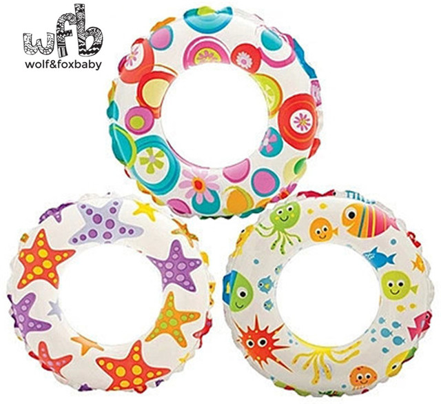51*51cm Max capability 22KG Children kids Swim Ring Safety Lifebuoy Inflatable Floats Pool Summer water starfish