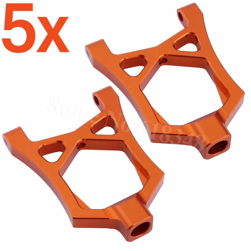 5x Aluminum Front Upper Suspension Arms For RC HPI Racing 1/5 Baja 5B 5SC 5T 5R SS T1000 KM ROVAN 85400 piston kit 36mm for hpi baja km cy sikk king chung yang ddm losi rovan zenoah g290rc 29cc 1 5 1 5 r c 5b 5t 5sc rc ring pin clip