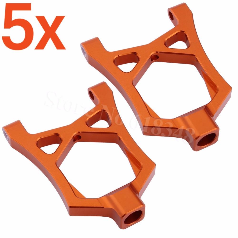 5x Aluminum Front Upper Suspension Arms For RC HPI Racing 1/5 Baja 5B 5SC 5T 5R SS T1000 KM ROVAN 85400 1 5 rc car carbon front upper plate for 1 5 scale hpi rovan km baja 5b 5t 5sc