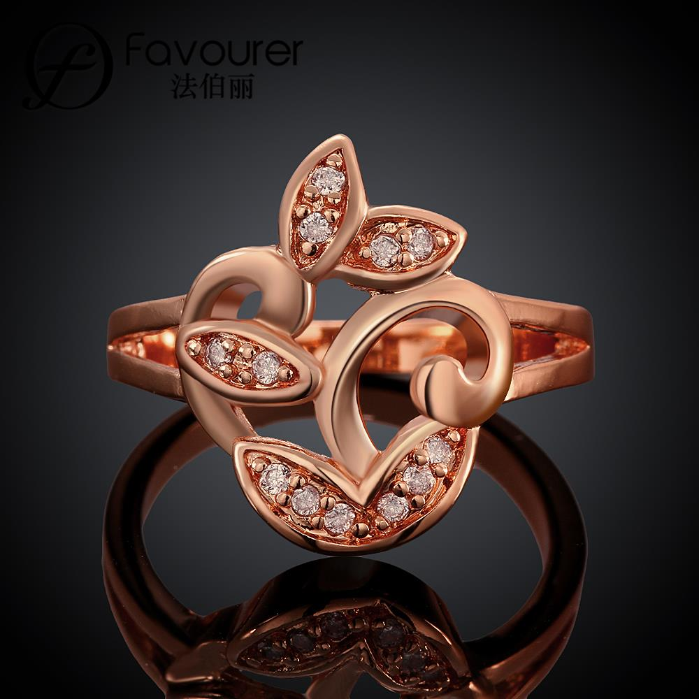 Engagement ring christmas ornament - White Rose Gold Color Rings For Women Wedding Feast Jewellery Ladies Rings Ornaments China