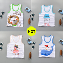 New summer boys girls vests underwear solid cotton kids tanks top baby girl boy for children camisoles undershirt DS19