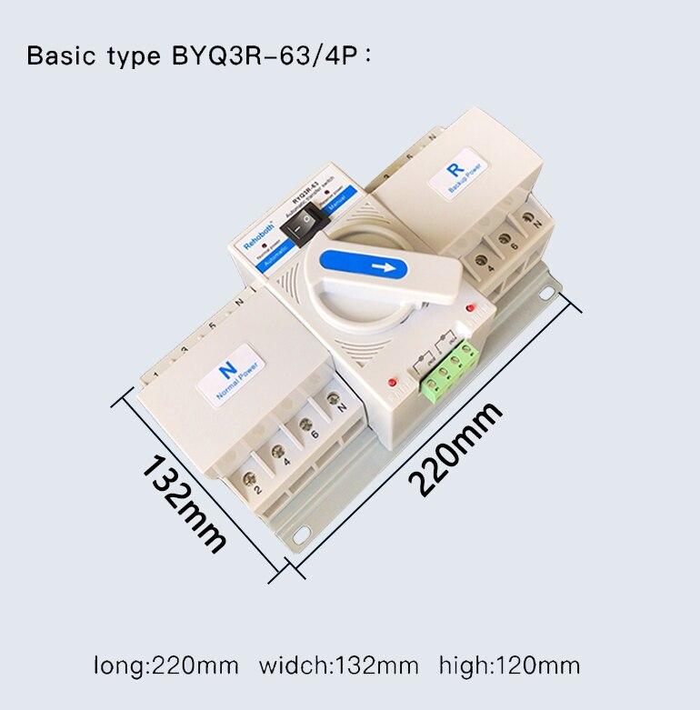 4P 63A 380V MCB type double commutateur de transfert automatique de puissance ATS