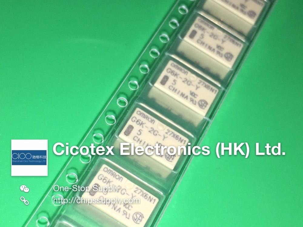 5PCS/LOT G6K-2G-Y-TR-5VDC G6K-2G-Y(5V) G6K-2G-Y-5VDC G6K-2G-Y-TR DC5 RELAY TELECOM DPDT 1A 5V G6K2GYDC5