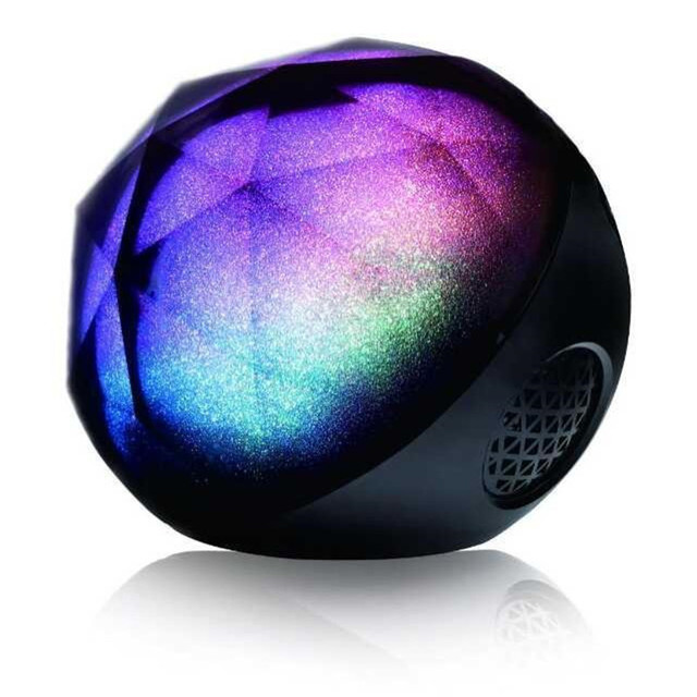 Anko Bluetooth Portable Speaker Crystal Look: Wireless Portable Bluetooth Speaker Multicolored Color Crystal Magic Ball Speaker For Party