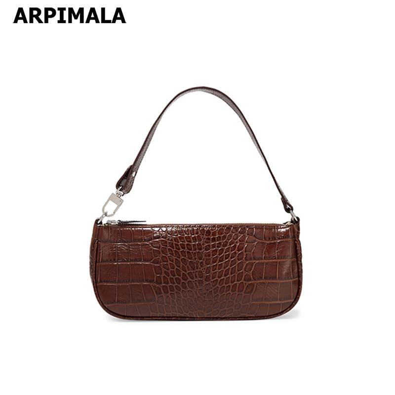 2801e4331 ARPIMALA Croc Baguette Bag for Women Fashion Patent Leather Handbags  Vintage Luxury Designer Tote Bags Brand