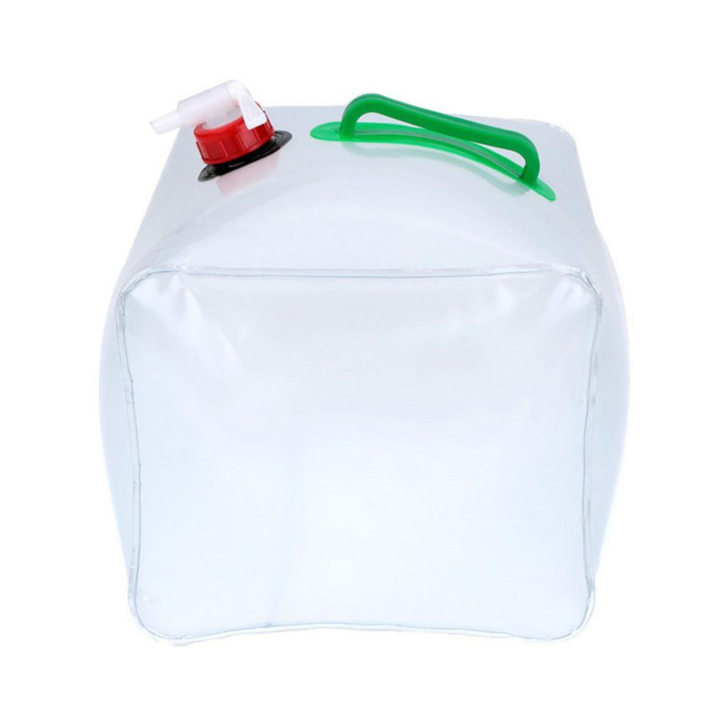 10 L Durable PVC Large Collapsible Drinking Water Bag Foldable Water Carrier Container Bottle For Outdoor Camp Picnic