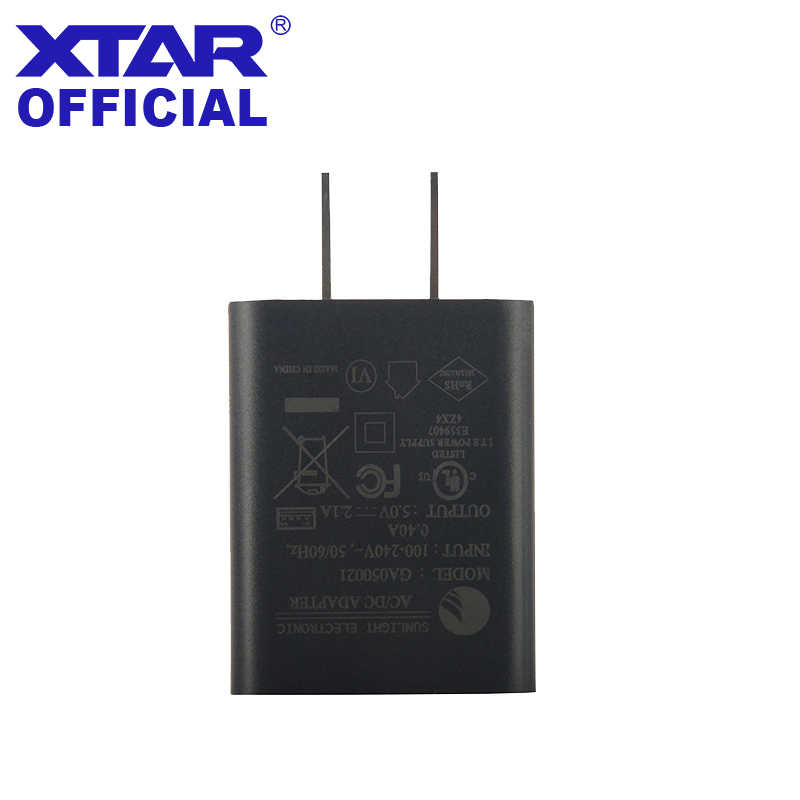 XTAR محول شاحن يو اس بي سريع السفر شاحن محول حائط ل XTAR شواحن VC2/VC2S/VC4/18650 شاحن بطارية XTAR