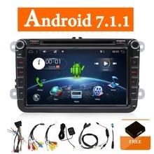 Due Din Car Multimedia Player Android 7.1 Radio Auto Per Skoda/Seat/Volkswagen/Passat b7/POLO /GOLF 5 6 DVD GPS 4 Core