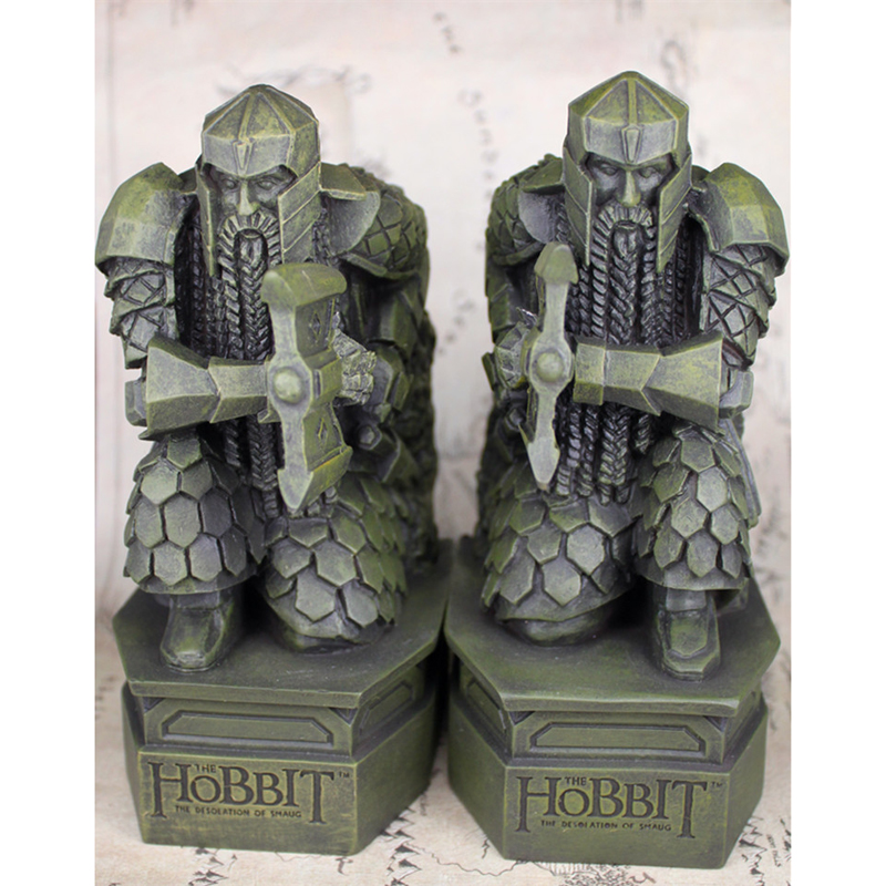 The Hobbit The Desolation of Smaug RESIN statue Bookend Sculpture Decoratoin Book Holder Lonely Mountain Dwarf