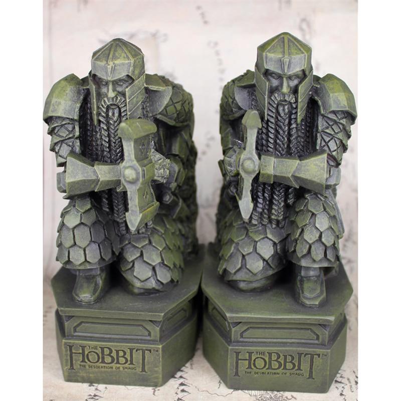 El Hobbit la desolación de la estatua de resina de Smaug escultura de libros Decoratoin soporte de libro solitario enano de montaña-in Figuras de juguete y acción from Juguetes y pasatiempos    1