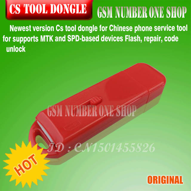 Newest version Cs tool dongle for Chinese phone service tool for supports  MTK and SPD-based devices Flash, repair, code unlock