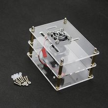 2 Layer  Raspberry Pi 3 Acrylic Case Clear Box Cover  for Raspberry Pi 3 / 2 Model B New Design Style