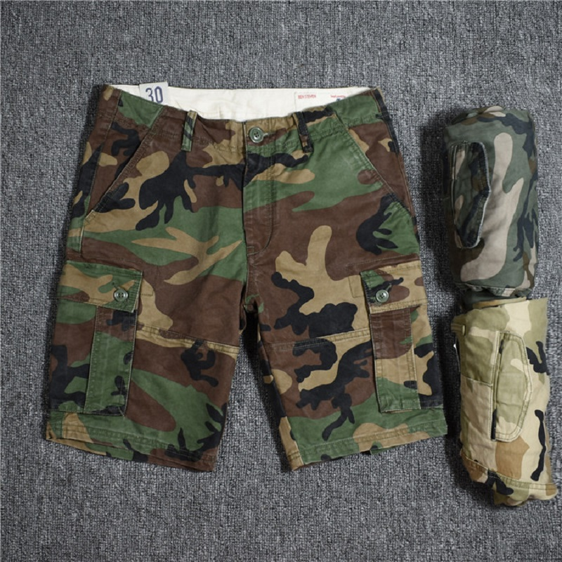 Camouflage Cargo Shorts Men 2018 New Mens Casual Shorts Male Loose Work Shorts Man Military Short Pants Plus Size 29 36