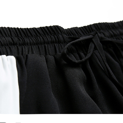 2019 Spring Sweatpants female fashion Harem Pants Loose Trousers For Women Black Striped Side Sweat Pants Female Plus Size S-3XL Karachi