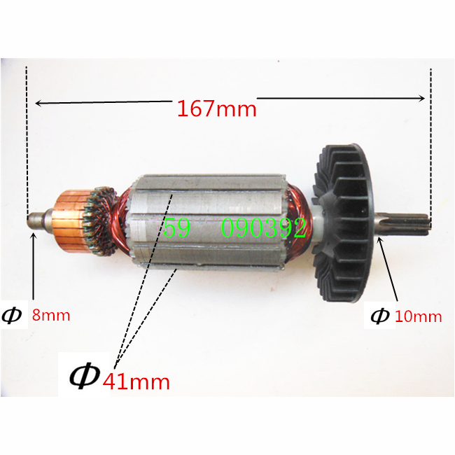 Armature Rotor Motor AC220-240V Replacement For MAKITA 6906 512883-1 ac 220 240v armature motor rotor replacement for bosch gbm500re gsb450re psb400re gsb13re gbm400re armature parts engine