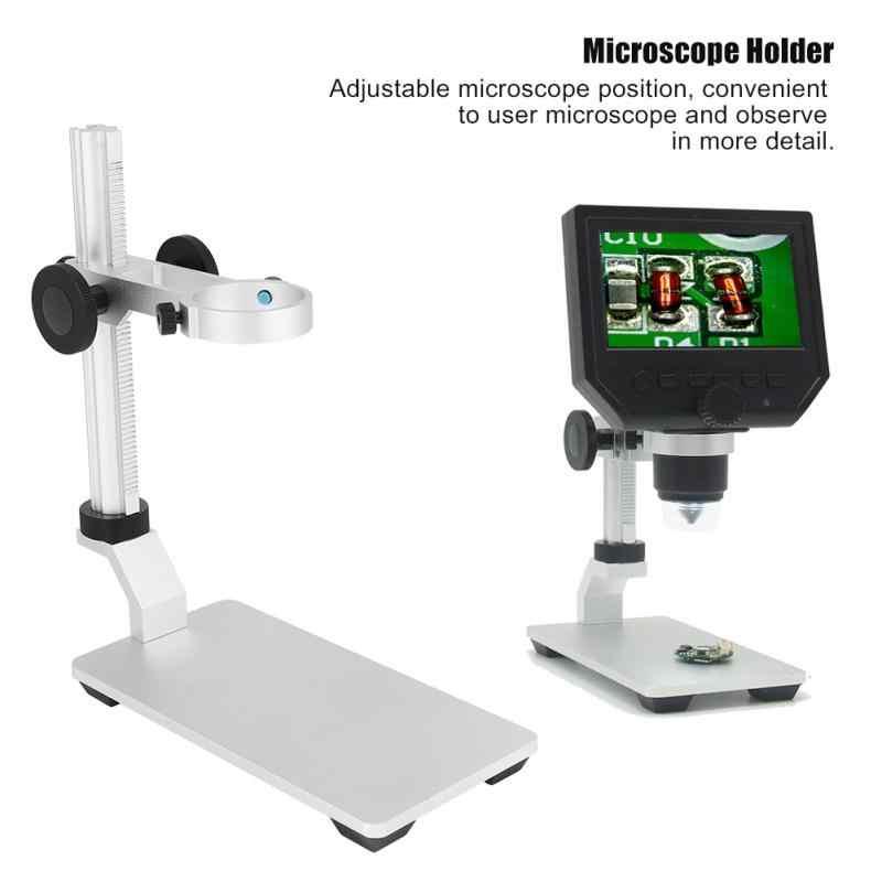 1 шт. оптический микроскоп Универсальный Цифровые микроскопы держатель Алюминий сплава стенд регулируемый подъем Поддержка