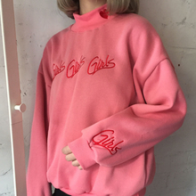 Мода Женщин толстовки осень зима 2017 корейский стиль новый пуловер милый розовый синий вышивка письмо сердце kawaii толстовка